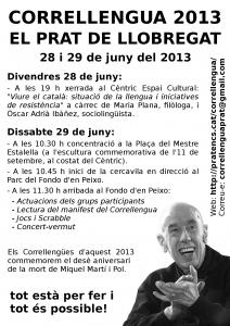 Octaveta del Correllengua 2013 al Prat