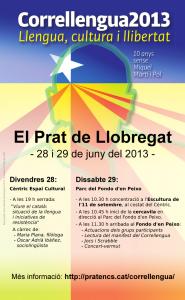 Cartell del Correllengua 2013 al Prat de Llobregat