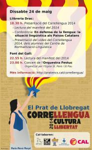 Cartell Correllengua el Prat 2014
