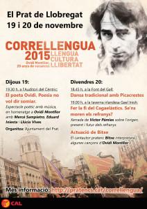 Cartell del Correllengua 2015 al Prat de Llobregat