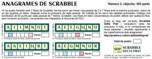 """Anagrames de Scrabble a """"la Riuada"""". Nº 2"""